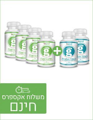 מבצע לחודשיים טיפול טבעי בגאוט, פלמורין ופרוטקטינול